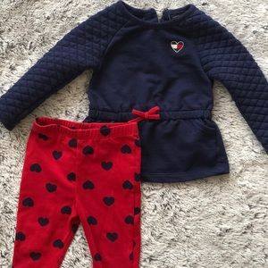Baby Girl Tommy Hilfiger Two Piece Set
